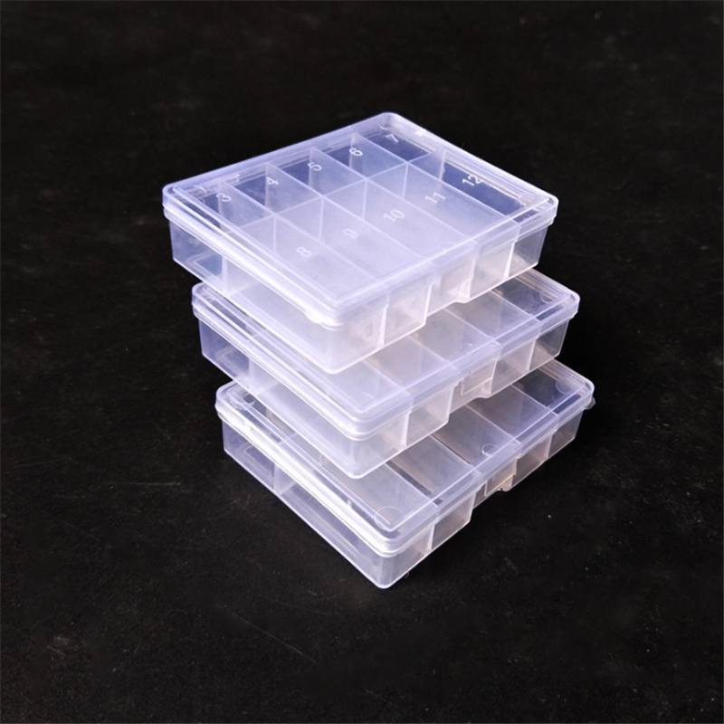 1pcs Fishing Tackle Boxes 10 Transparent Compartments Plastic Fishing Lure Bait Hook Storage Case Tackle Box High Strength Box