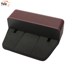 YOLU PU Leather Car Seat Gap Slit Pocket Catcher Organizer Storage Box Phone Bottle Cups Holder Auto Car Accessories Interior недорого