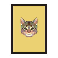 Смешанные цвета, геометрические абстрактные животные, голова кота, декоративная живопись, детская комната, Детская настенная живопись
