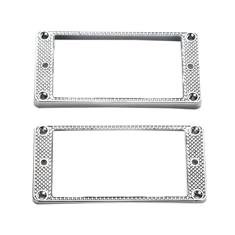 2Pcs Humbucker Pickup Ring Metal Curved Bottom Frame For LP PRS Guitar Parts