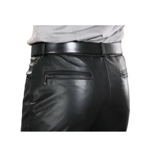 Image 5 - 2020男性本革パンツプラスサイズストレートパンツ男性パンツメンズ正規全身パンツ7XL