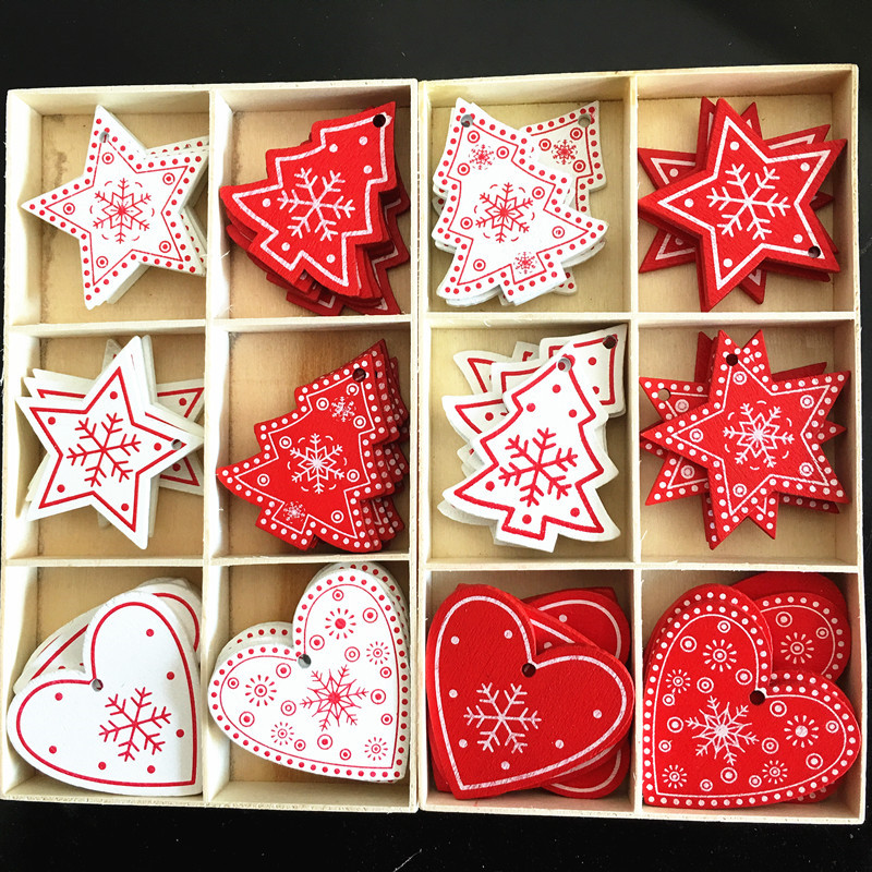 New Year 2020 Christmas Ornaments Natural Wooden Pendant DiY Crafts Gifts Navidad 2019 Noel Deco Xmas Tree Decoration For Home