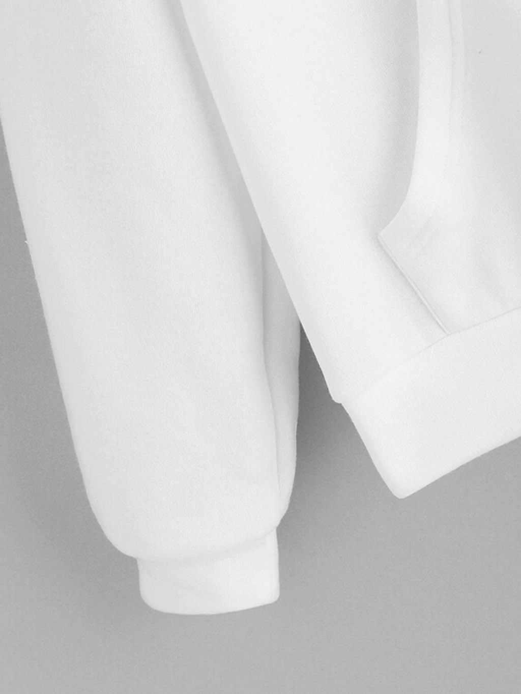 Muqgew Kpop Hoodies Wanita Musim Gugur Kelinci Telinga Lengan Panjang Sweatshirt Pullover Streetwear Atasan Moletom Feminino Inverno Толстовка