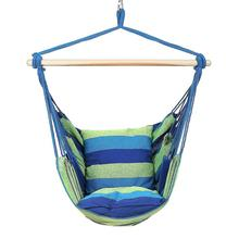 Garden Indoor Outdoor Hammocks Canvas Swing Chair Hanging Rope Chair Backpacking Travel Survival Hunting Sleeping Bed