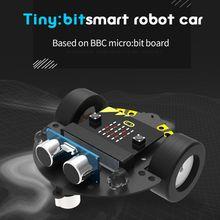 2019 Hot 1Set Micro:bit Graphical Programming Robot Mobile Platform Smart Car V4.0 Support Line Patrol Ambient Light