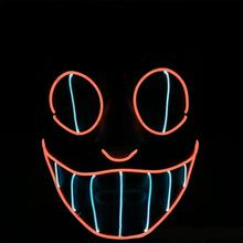 Halloween Scary Mask Cosplay LED Costume Wire Light up for Festival Party