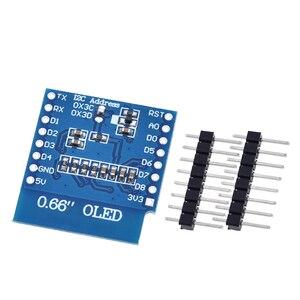 "Image 3 - TZT 0.66 אינץ OLED תצוגת מודול עבור WEMOS D1 מיני ESP32 מודול Arduino AVR STM32 64x48 0.66 ""LCD מסך IIC I2C OLED"