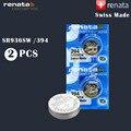 2 шт./лот Renata 394 100% оригинальный фирменный Новый аккумулятор для часов с оксидом серебра, долговечный SR936SW 936 1,55 в, кнопочные батарейки для мон...