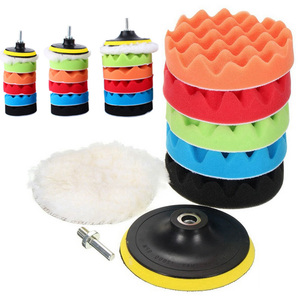 Image 4 - Neue 8 stück schönheit wachsen set Automotive Polieren Werkzeuge auto polieren disc schwamm polieren rad wolle pad 3/4/5/6/7 zoll