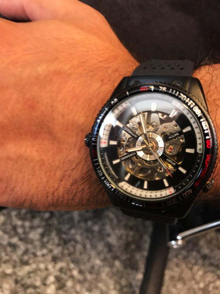 Hdeb25fa8399640d4a8624e4e41e0c360a Forsining 2016 Rotating Bezel Sport Design Silicone Band Men Watches Top Brand Luxury Automatic Black Fashion Casual Watch Clock