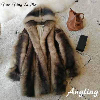 2019 New Style High-end Fashion Women Faux Fur Coat S105