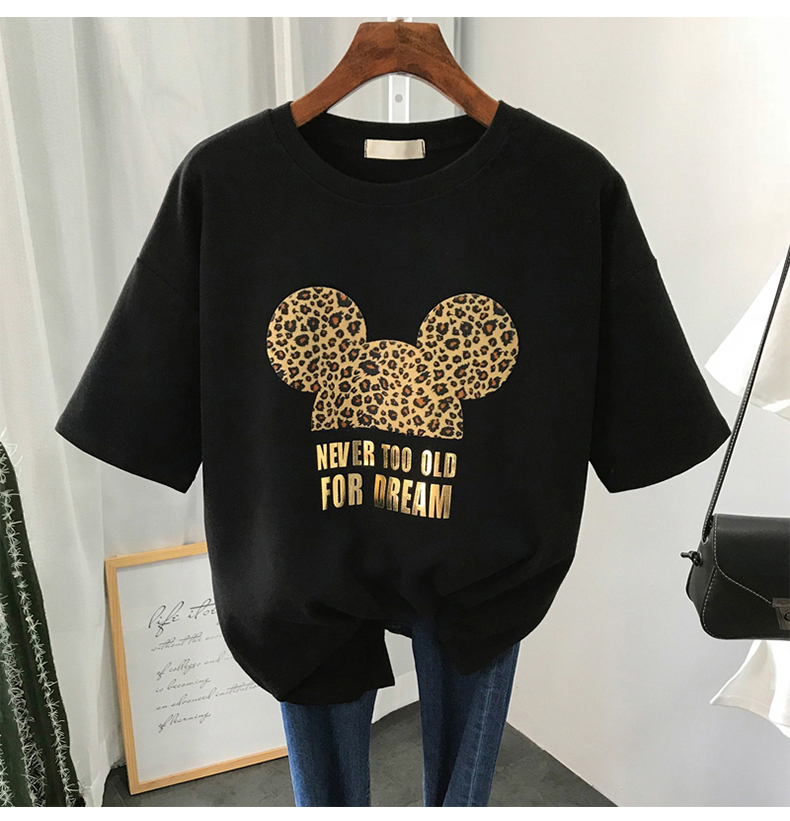 S-3XL Plus Size 22 Colors Summer T Shirt Women Fashion Print Cartoon Mouse Harajuku Female T-Shirts 2020 New Casual TShirt Tops