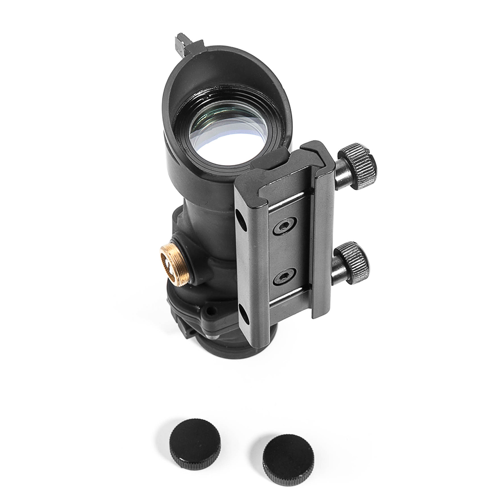 Image 5 - LUGER Hunting Optical Scope ACOG 1X32 Tactical Red Green Dot Sight Illuminated Rifle Scope With 20mm Rail For Airsoft Gun-in Riflescopes from Sports & Entertainment