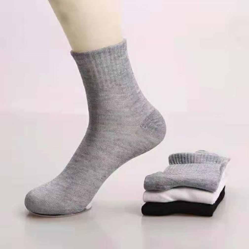 1 par meias masculinas baixo corte tripulação tornozelo macio algodão inverno casual tripulação malha meia 2019