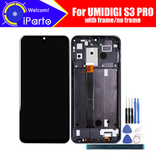 6.3 אינץ UMIDIGI S3 PRO LCD תצוגה + מסך מגע Digitizer + מסגרת עצרת 100% מקורי LCD + מגע Digitizer עבור UMIDIGI S3 פרו