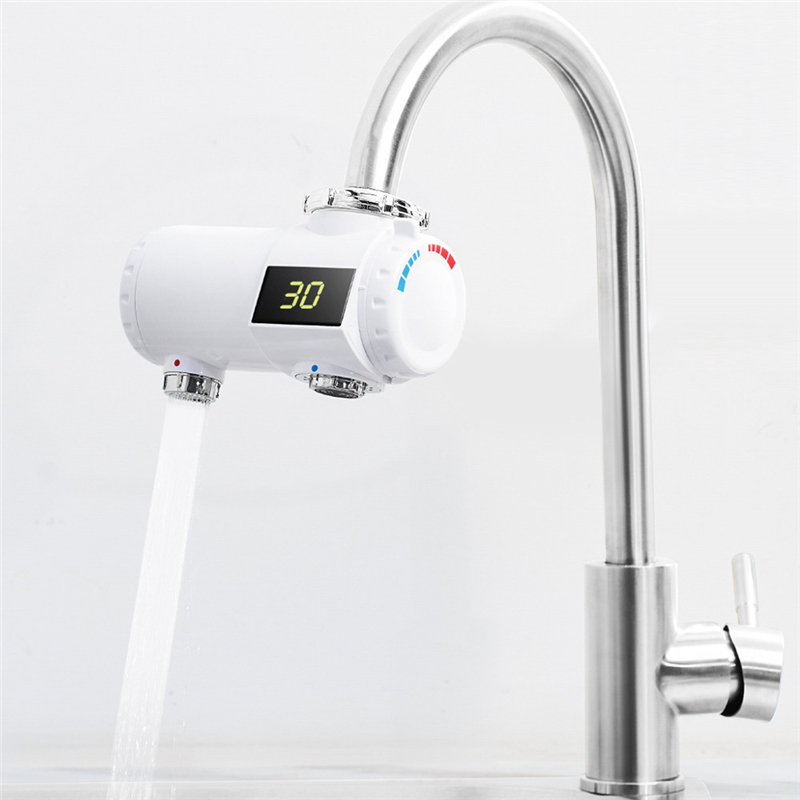 220V 3000W électrique chauffe-eau robinet 3s rapide instantané chauffage salle de bains cuisine chaud froid mélangeur LED affichage