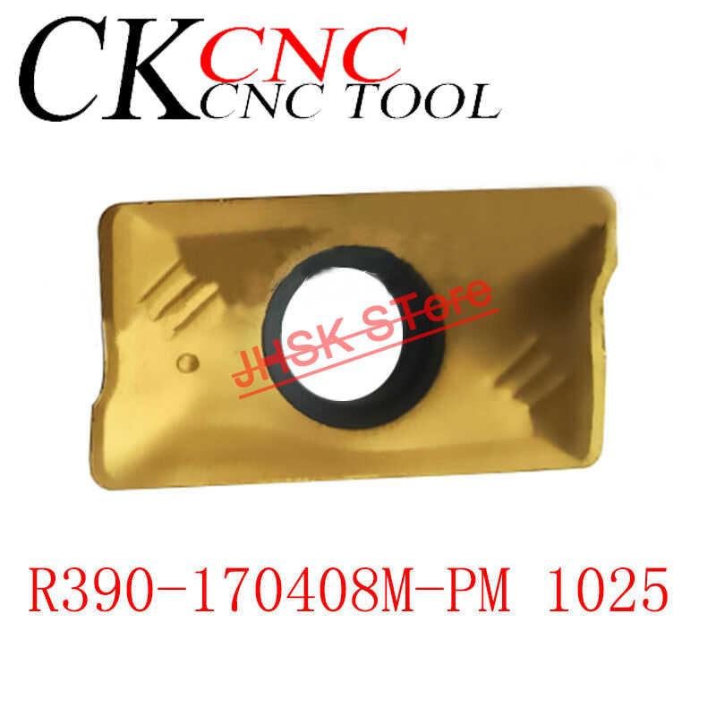 10pcs R390 170408M PM 1025 Milling blade insert R0.8 1025 r390 carbide inserts