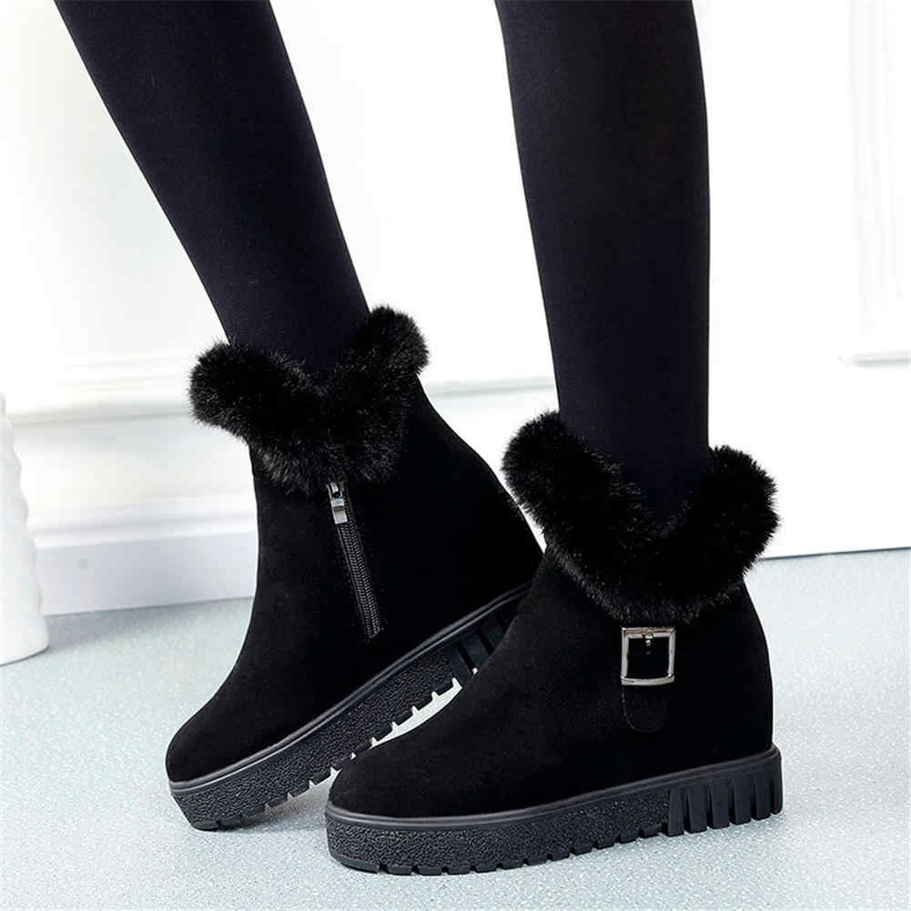 Karinluna/2019 г., прямые поставки, теплые зимние ботинки женские удобные ботильоны на высоком каблуке женские ботинки женская обувь