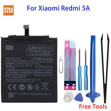 Оригинальный аккумулятор Xiao Mi BN34, сменная батарея для телефона Xiaomi Redmi 5A 5,0 дюймов, батареи для телефонов с высокой емкостью 2910 мА/ч и инструм...