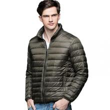 Outwear Autumn Winter Man Duck Down Jacket Ultra Light Thin Plus Size Spring Jackets Men Stand Collar Outerwear Coat size