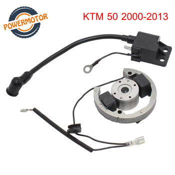 New Stator Rotor Ignition Coil Kit Magneto Replacement Ignition Coil Stator Flywheel for KTM50 SX Pro Junior Sr Jr KTM 50 2000-2 motorcycle ignition magneto stator coil for kawasaki ex250 ninja 250r 2008 2012 magneto engine stator generator coil accessories