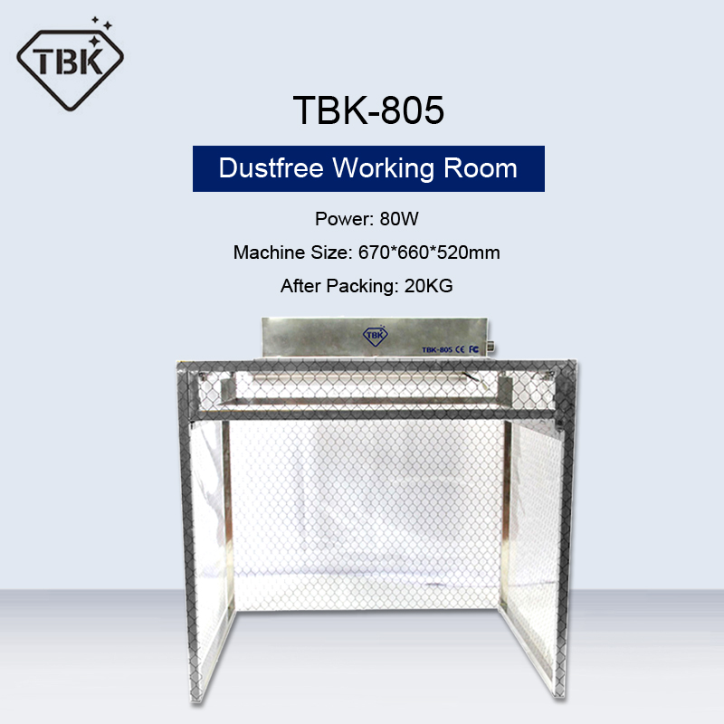 TBK-805 Anti-Static Dust Free Working Room Aluminum Work Bench For Phone LCD Repair Refurbishing Cleaning Room Can Folded title=