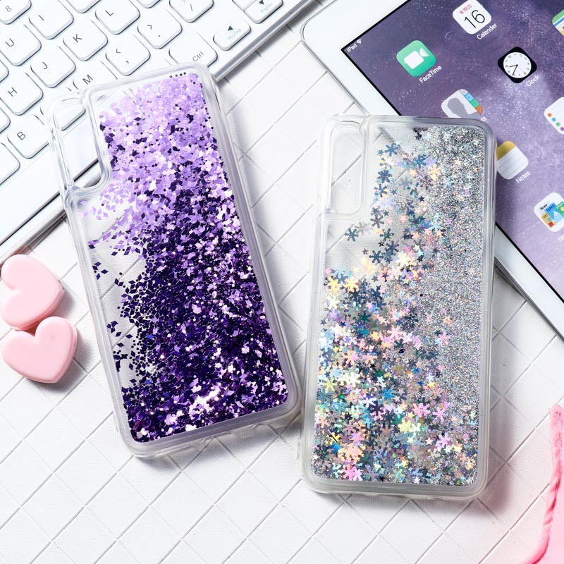 Liquid Glitter Case For <font><b>Samsung</b></font> A50 A70 A50 A10 A20 <font><b>A30</b></font> M20 M30 J6 2018 M10 Case Silicon Coque For <font><b>Samsung</b></font> Galaxy A50 2019 Cover image
