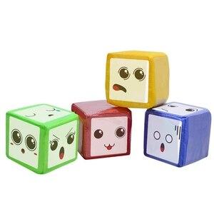 Image 5 - DIY edukacja gra w kości, kieszonkowe kwadratowe serwetki, kieszeń na zdjęcia piankowe bloki do układania w stosy zestaw 4 sztuk