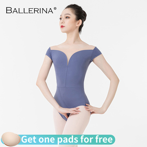 Image 3 - バレエ練習レオタード女性のためのaerialistダンス衣装半袖体操レオタードadultoバレリーナ5729
