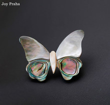 Retro personality natural abalone shell brooch / Butterfly owl devils eye pin