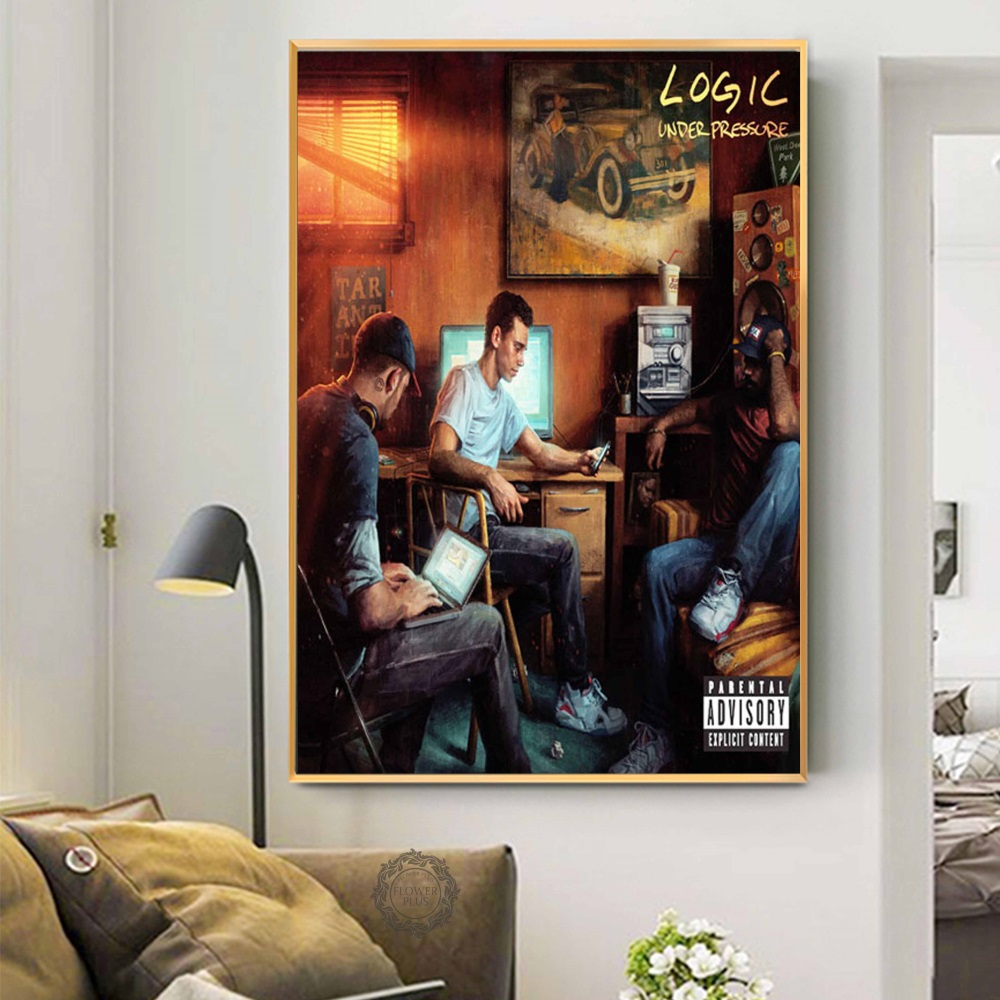 Logic Hot New Album Tarantino Confessions Of A Dangerous Mind Hip Hop Rap Art Painting Silk Canvas Poster Wall Home Decor image