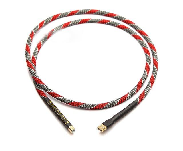 Hi Cấp QED OCC Mạ Bạc Âm Thanh USB Cáp Dữ Liệu USB Cáp Đắc USB HiFi Cáp A B Cáp USB