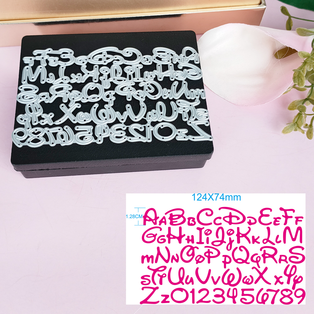 Alphabet Letter Number Cutting Dies for Mickey minne card Stencils for DIY Scrapbooking-photo album Decorative Paper Cards