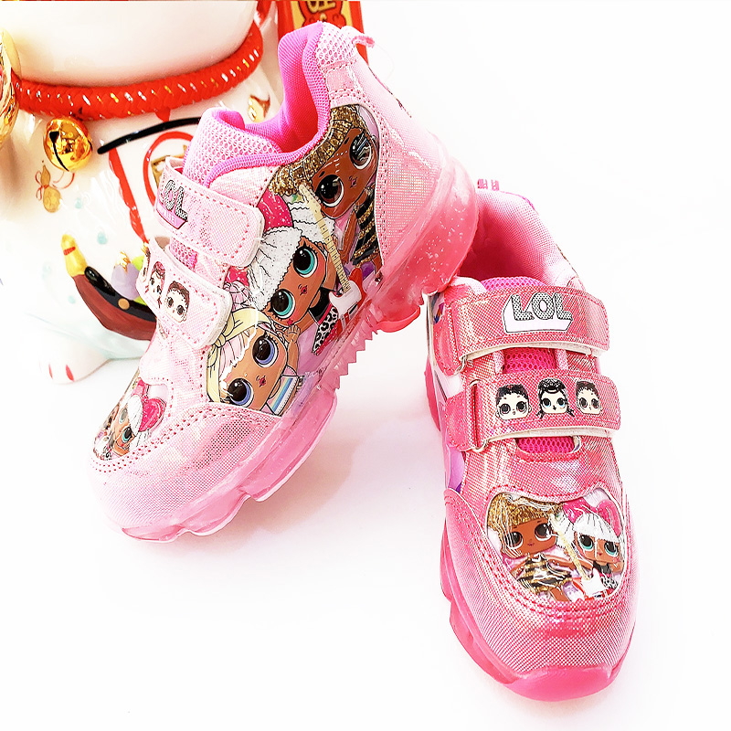 LOL Surprise Dolls Original Women Sport Shoes Girls LED Cartoon Fashion Casual Non-slip Sneakers Children Birthday Gifts 2S71