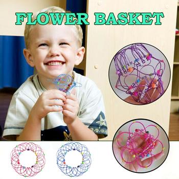 MANDALA kosz na kwiaty zabawka drut Mandala kwiat 3D Mandala medytacja zabawka dla dzieci dziewięć zamek pierścieniowy zabawki edukacyjne dla dzieci magiczne zabawki tanie i dobre opinie Metal CN (pochodzenie) Unisex IA283291 ŁATWE DO WYKONANIA Łańcuch 2-4 lata 5-7 lat Sztuczki uliczne