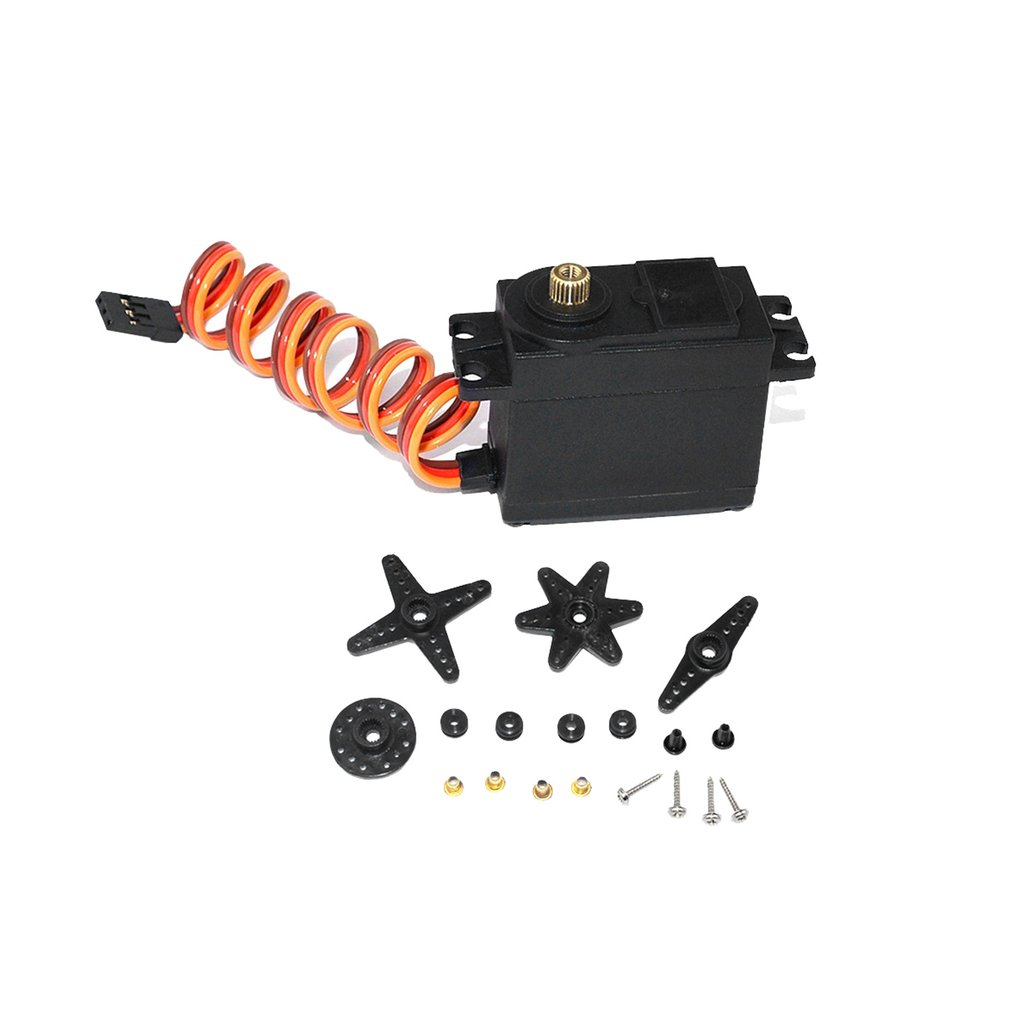 Waterproof Analog Copper Gear Servo 4.8-6.0V 0.24sec/60 15kg Large Torque for 1/8 1/10 Redcat Traxxas <font><b>HPI</b></font> HSP Hobao <font><b>RC</b></font> Car image