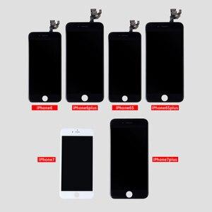 Image 5 - AAA + + + dla iPhone 6 6S 7 8 Plus LCD z siłą 3D montaż digitizera ekranu dotykowego dla iPhone X XS XR 5S 4S wyświetlacz nie martwy piksel