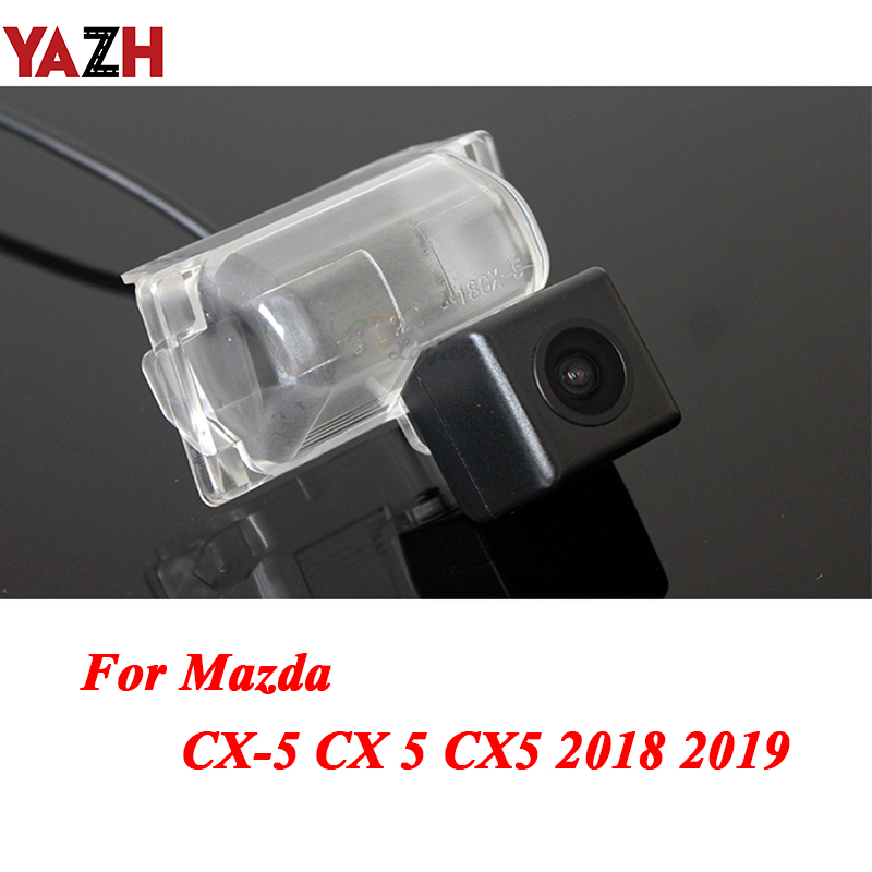 YAZH Car Rear view Camera <font><b>For</b></font> <font><b>Mazda</b></font> <font><b>CX</b></font>-<font><b>5</b></font> <font><b>CX</b></font> <font><b>5</b></font> CX5 <font><b>2018</b></font> <font><b>2019</b></font> HD CCD Waterproof Night Vision Auto reverse backup parking Camera image