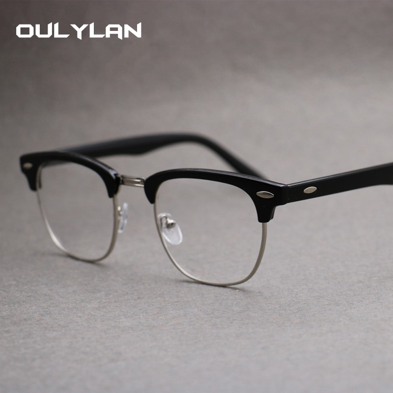 Oulylan Computer Eyeglasses Men Blue Light Blocking Glasses Women Classic Clear Optical Spectacles Myopia Frame Eyewear