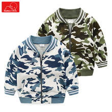 autumn spring boys Camouflage Bomber jackets for children cotton kids clothing overcoat fashion child outerwear clothes