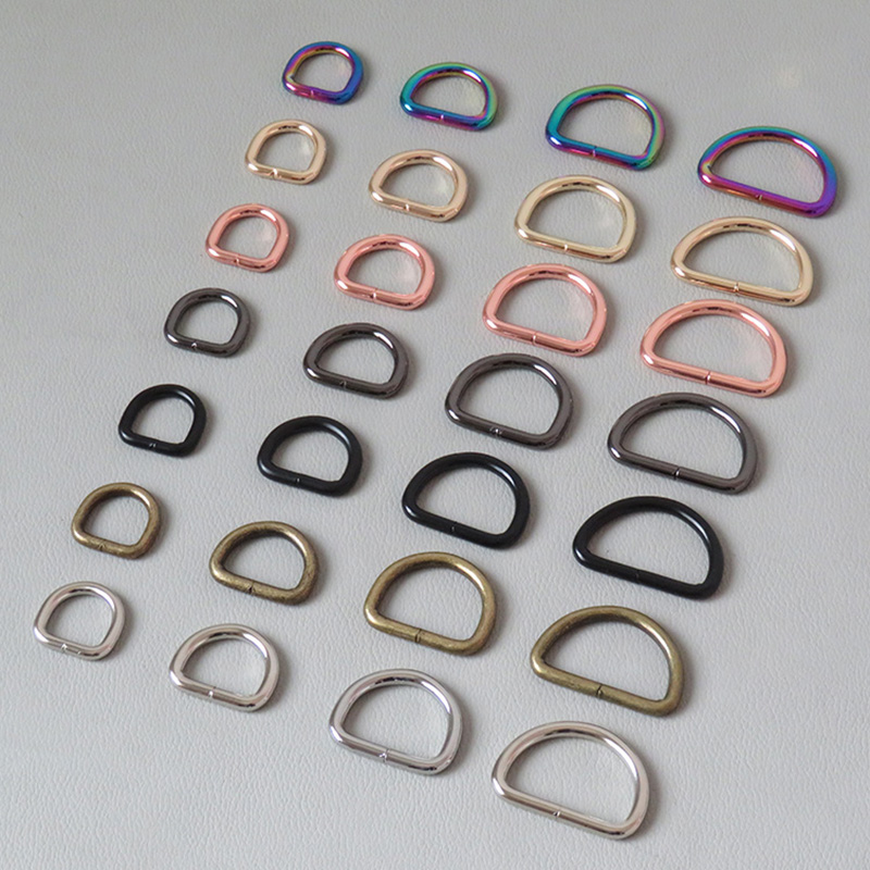 1PCS 15mm 20mm 25mm 32mm Webbing D Ring For Bag Accessory Belt Loop Buckle Metal Hardware Pet Dog Collar Garment Backpack Clasps