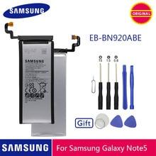بطارية الهاتف الأصلي سامسونج EB BN920ABE 3000mAh لسامسونج غالاكسي نوت 5 N920 N920A N920T N920I N920G N920V N9200 N9208