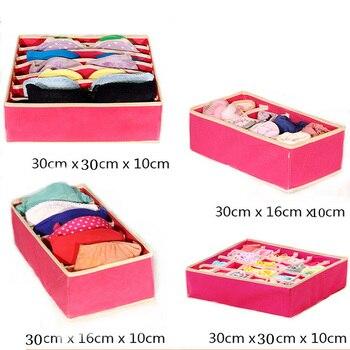 Opbergdozen Organizer Opvouwbare Ondergoed Divider Box 3 Kleuren Voor Stropdassen Sokken Shorts Bra Wasbaar Lade Kast Organisatoren