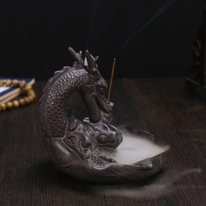 Turshitë e flakës së djegies T backflow Dragon me 20 copë Cones - Dekor në shtëpi - Foto 3