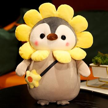 Super miękkie pingwin pluszowe zabawki słodkie nadziewane Cosplay pingwin zabawka w kształcie zwierzątka jednorożec dinozaur lalka króliczek poduszka dla dzieci dziewczyny Kawaii prezent tanie i dobre opinie EXACME CN (pochodzenie) Tv movie postaci COTTON 13-24m 25-36m 4-6y 7-12y 12 + y Genius penguin Miękkie i pluszowe Unisex