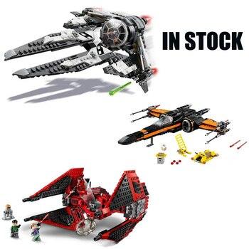 En existencia, bloques de construcción Poe x-wing Star Fighter de Star Wars de primer orden, compatibles con Star Wars 75242 75233