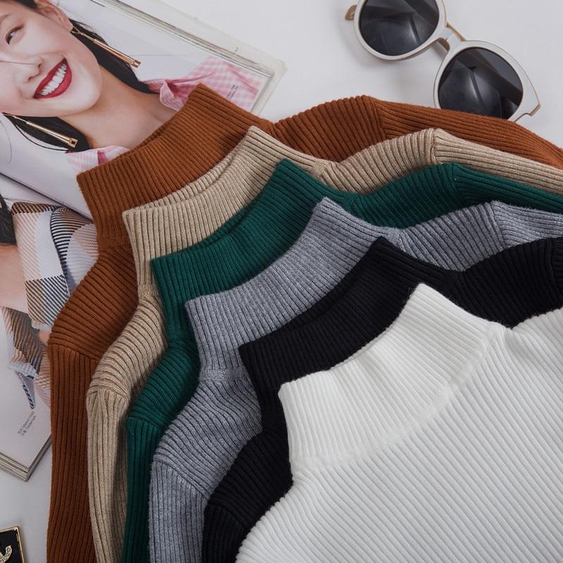 Women Pullover Sweater 2019 Winter Autumn Turtleneck Sweater Women Christmas Sweater Knitted Women Sweater Pull Femme Jumper