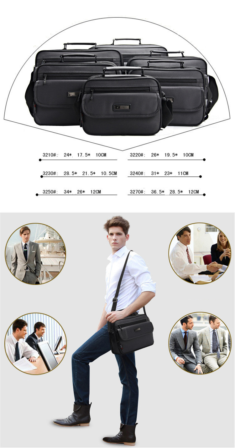 Hdeb4ad2b21d841d398f1ab11d4c8aa67H 2019 New Briefcases Of Sizes Men's Laptop Bag Top Quality Waterproof Men bags Business Package Shoulder Bag masculina briefcase