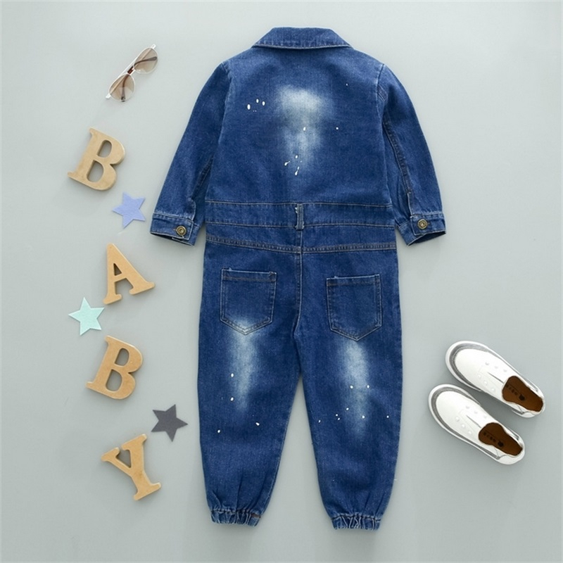 Image 5 - CNFSNJ new Baby Boy Girls Costume Cowboy Fashion Jeans Children Soft Denim Baby Romper Graffiti Infant Clothes Newborn Jumpsuitdenim babyfashion girlgirls fashion -