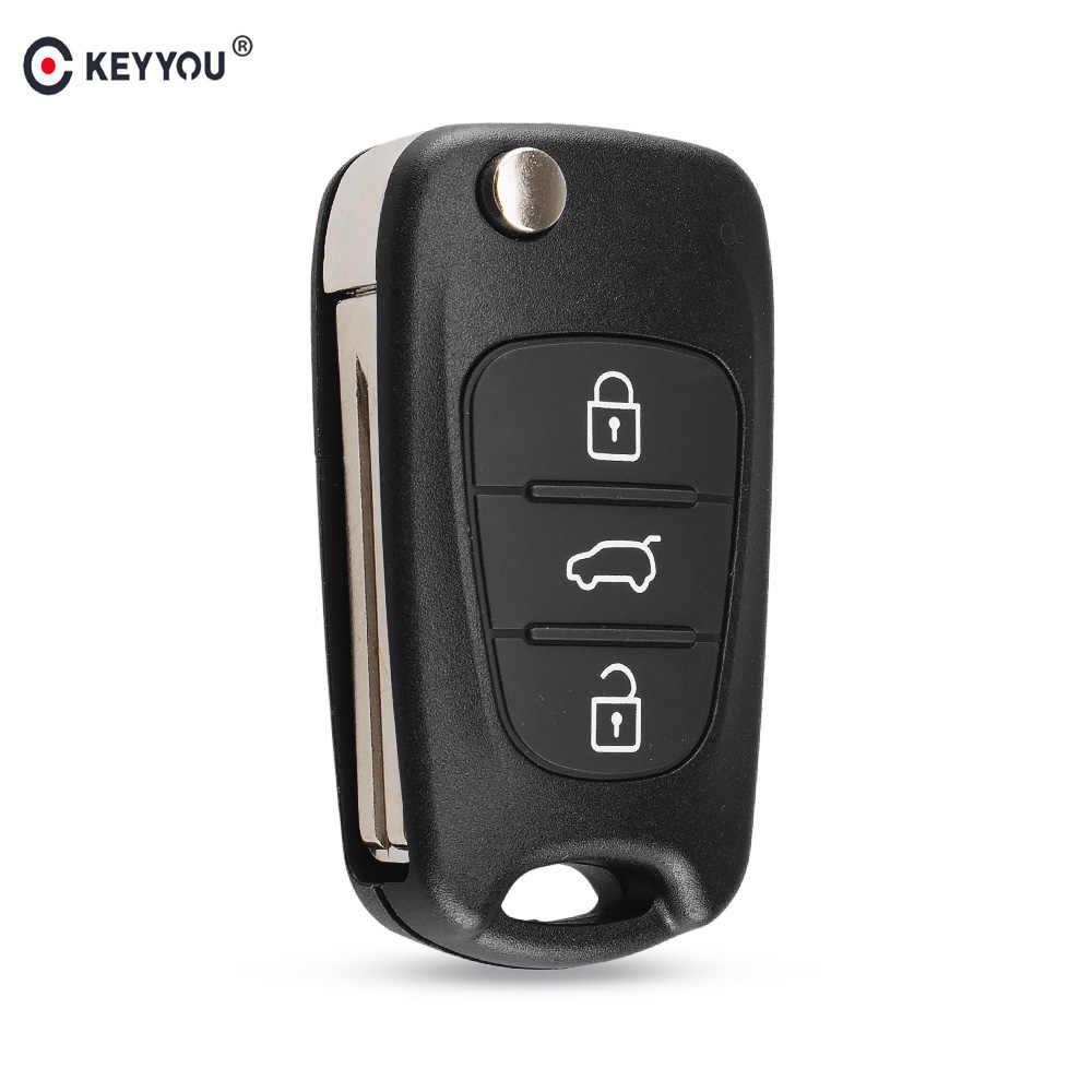 Keyyou 3 Tombol Remote Mobil Kunci Shell untuk Hyundai I20 I30 IX35 I35 Bisa Solaris Elantra Santa Fe untuk Kia Cerato Jtsl